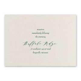 Natural Beauty - Hunter - Foil Reception Card