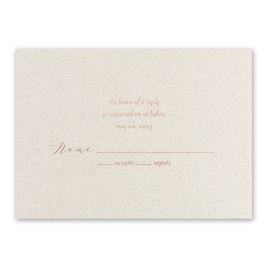 Natural Beauty - Rose Gold - Foil Response Card