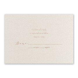Natural Beauty - Rose Gold - Foil Response Card