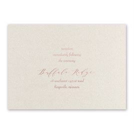 Natural Beauty - Rose Gold - Foil Reception Card