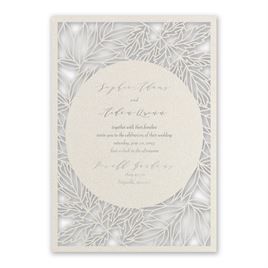 Natural Beauty - Silver - Laser Cut Invitation