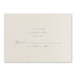 Natural Beauty - Silver - Foil Response Card