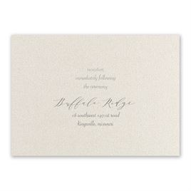Natural Beauty - Silver - Foil Reception Card