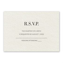 Wedding Response Cards: Forever Ecru Response Card
