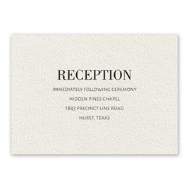 Wedding Reception and Information Cards: Forever Ecru Reception Card