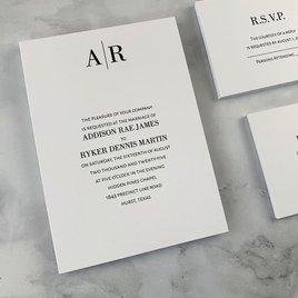 Forever - White - Invitation