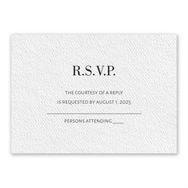 Wedding Response Cards: Forever White Response Card