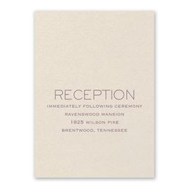 Wedding Reception and Information Cards: Modern Love Ecru Reception Card