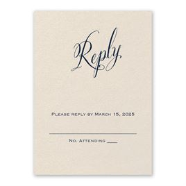 Wedding Response Cards: Meant to Be Ecru Response Card
