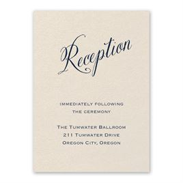 Wedding Reception and Information Cards: Meant to Be Ecru Reception Card