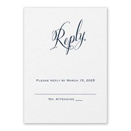 Wedding Response Cards: Meant to Be White Response Card