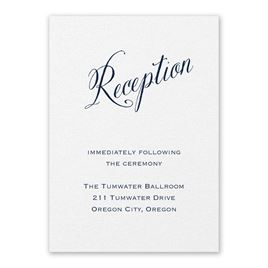 Wedding Reception and Information Cards: Meant to Be White Reception Card
