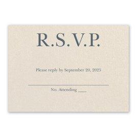 Wedding Response Cards: So in Love Ecru Response Card