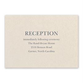 Wedding Reception and Information Cards: So in Love Ecru Reception Card