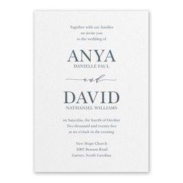 Traditional Wedding Invitations: So in Love White Invitation