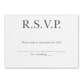 Wedding Response Cards: So in Love White Response Card