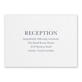 Wedding Reception and Information Cards: So in Love White Reception Card