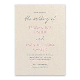 Wedding Invitations: Sweet Statement Ecru Invitation