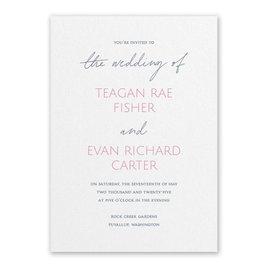 Wedding Invitations: Sweet Statement White Invitation