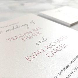 Sweet Statement - White - Invitation