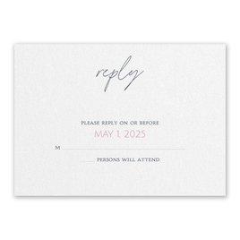 Wedding Response Cards: Sweet Statement White Response Card