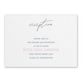 Wedding Reception and Information Cards: Sweet Statement White Reception Card