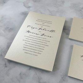 Classic Couple - Ecru - Invitation