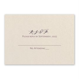 Wedding Response Cards: Classic Couple Ecru Response Card