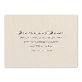 Wedding Reception and Information Cards: Classic Couple Ecru Reception Card