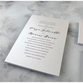 Classic Couple - White - Invitation