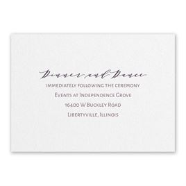 Wedding Reception and Information Cards: Classic Couple White Reception Card