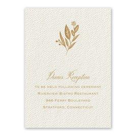 Wedding Reception and Information Cards: Evermore Ecru Reception Card