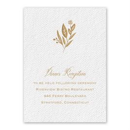 Wedding Reception and Information Cards: Evermore White Reception Card