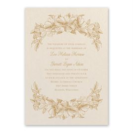 Floral Wedding Invitations: Forever Floral Ecru Invitation