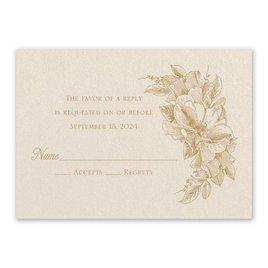 Wedding Response Cards: Forever Floral Ecru Response Card