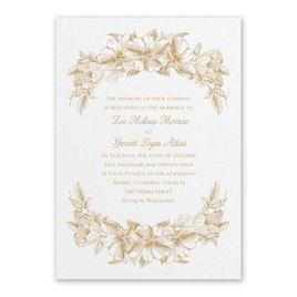 Floral Wedding Invitations: Forever Floral White Invitation