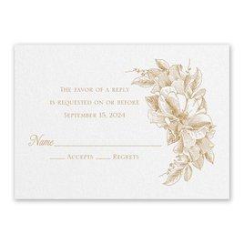 Wedding Response Cards: Forever Floral White Response Card