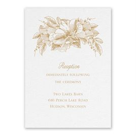 Wedding Reception and Information Cards: Forever Floral White Reception Card