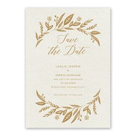 Evermore Ecru Save the Date Card
