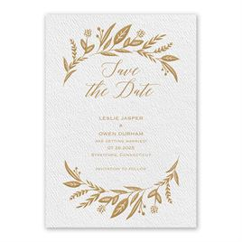 Evermore White Save the Date Card