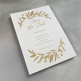 Evermore - White - Save the Date Card