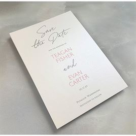 Sweet Statement - White - Save the Date Card