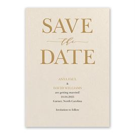 So in Love Ecru Save the Date Card