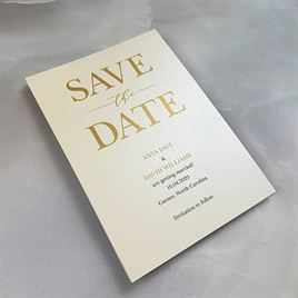 So in Love - Ecru - Save the Date Card