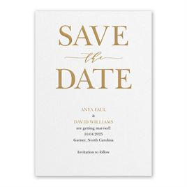 So in Love - White - Save the Date Card