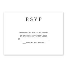 Wedding Response Cards: Sweet Monogram Response Card