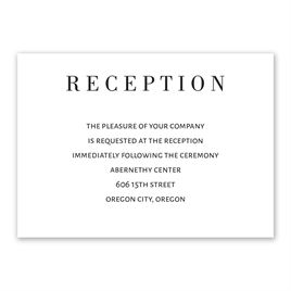 Wedding Reception and Information Cards: Sweet Monogram Reception Card