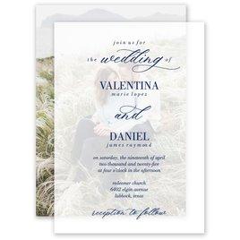 True Love Layered Vellum Invitation