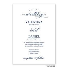 True Love - Layered Vellum Invitation