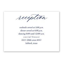 Wedding Reception and Information Cards: True Love Reception Card